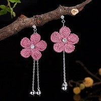 Earrings For Women Bohemian Drop Earings Brincos 2018 Bijoux Femme 925 Sterling Silver Oorbellen Pendientes Mujer