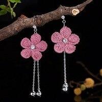Earrings For Women Bohemian Drop Earings Brincos 2018 Bijoux Femme 925 Sterling Silver Oorbellen Pendientes Mujer