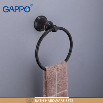 GAPPO wieszaki na ręczniki mosiądz wieszak na ręczniki do montażu na ścianie wieszak na ręczniki wieszak na ręczniki łazienka wieszaki na ręczniki akcesoria łazienkowe akcesoria łazienkowe tanie i dobre opinie Pierścienie ręcznik Miedzi Y15503 Towel Bars Towel Holders