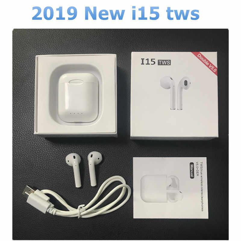8235790d508 2019 nuevo i14 i15 TWS de control táctil 1:1 de carga inalámbrico auricular  Bluetooth
