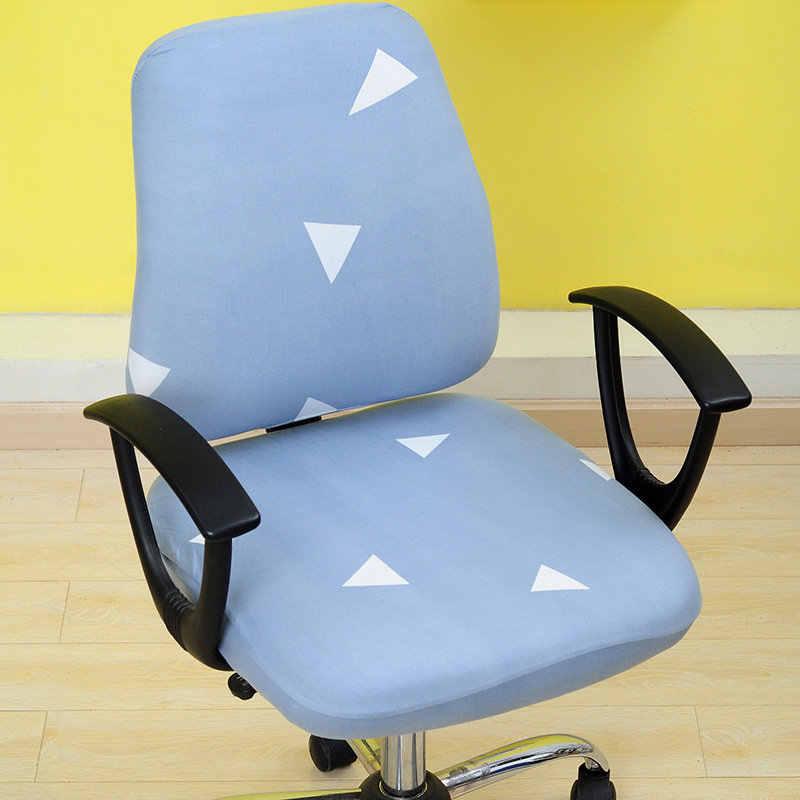 2 шт./компл. Универсальный эластичная ткань спандекс Разделение чехол для спинки стула + сиденье Бесплатная доставка Модный офис Чехол на компьютерное кресло стрейч чехол