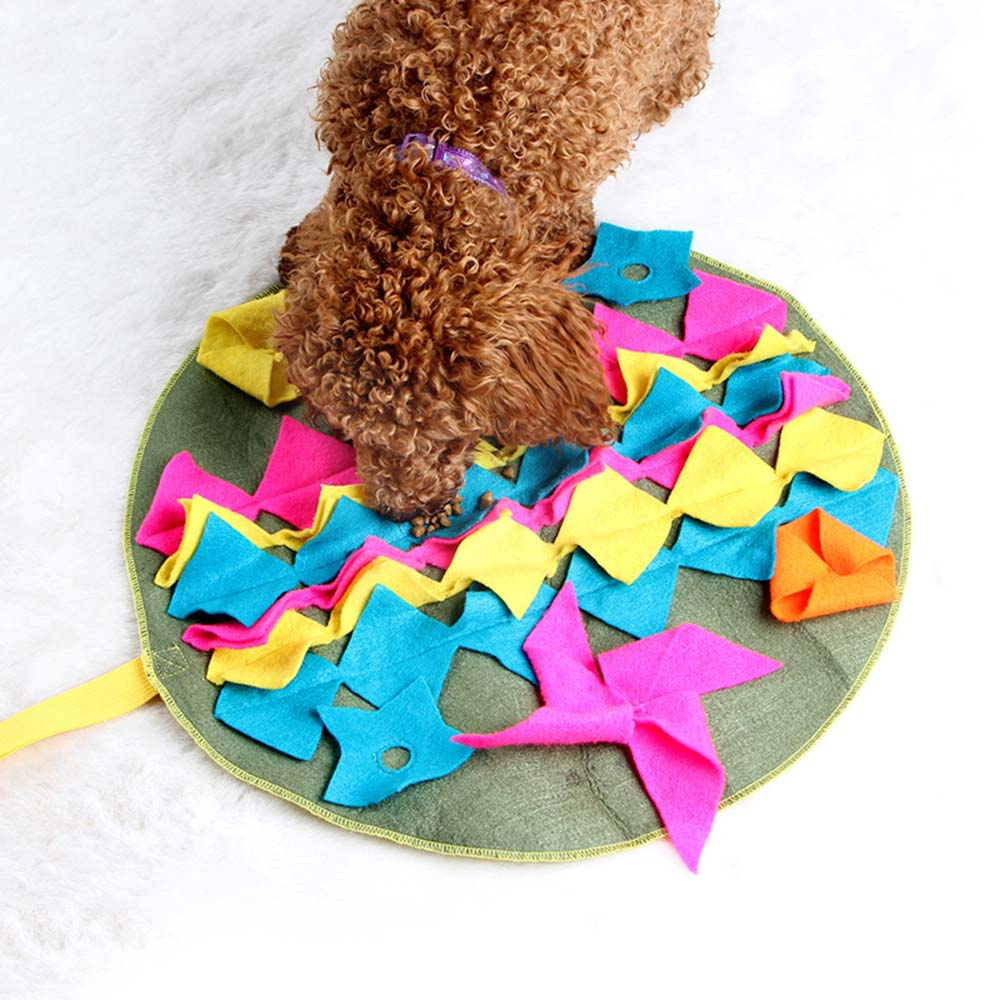Pet Dog Sniffing Mat Find Food Training Blanket Play Toys Dog Mat For Relieve Stress Puzzle Sniffing Mat Pad 5