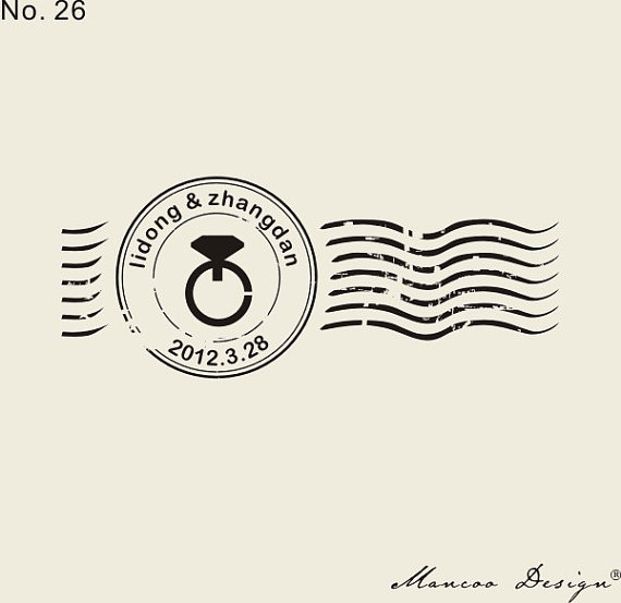 Custom seal 27 x11 Ring postmark stamp Personalized Rubber Stamp