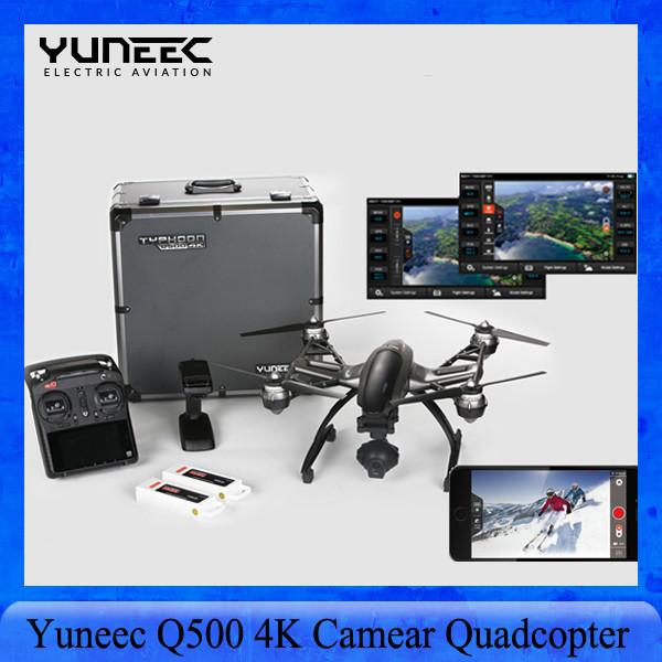 EN la Acción!!! Yuneec Q500 4 K Quadcopter Control Constante de Mano phantom Cardán con el caso de Aluminio + Batería Adicional PK 3