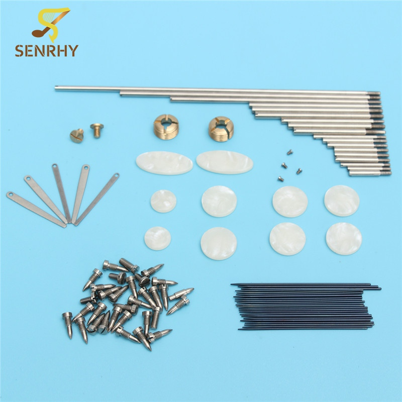 1Set Tenor Sax Repair Parts Rollers Screws Spring Key Buttons Inlays For Saxophone Parts Accessories