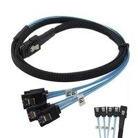 1 м Mini SAS 36 P SFF-8087 до 4 X SATA 7Pin HD Splitter Breakout синий кабель Новый QJY99