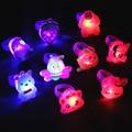 50 шт. светящиеся кольца светится в темноте, новые детские игрушки, светящиеся подарки, светодиодный светящиеся игрушки для детей, играющих в ночное время - фото