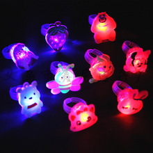 50pcs Luminous rings glow in the dark new childrens toys flash gifts LED cartoon lights for childs kids playing night