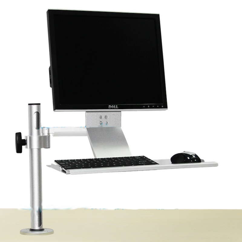 Tablet pc Industrial LCD Monitor display screen wall mount + keyboard tray+ mouse stand Tray Mount Computer Bracket