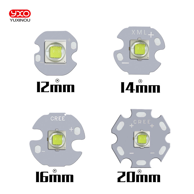 10PCS CREE XML2 LED XM-L2 T6 U2 10W WHITE Neutral White Warm White High Power LED Emitter with 12mm 14mm 16mm 20mm PCB for DIY 30w cree xlamp 3 series xm l2 xml2 t6 cool white warm white neutral white led light on 50mm pcb board for diy flashlight torch