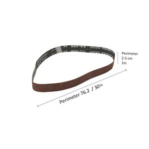 Image 4 - 10pcs Abrasive Sanding Belts 400 Grit 762 * 25 mm for Electric Belt Sanders Bench Grinder Grinding Polishing Tool