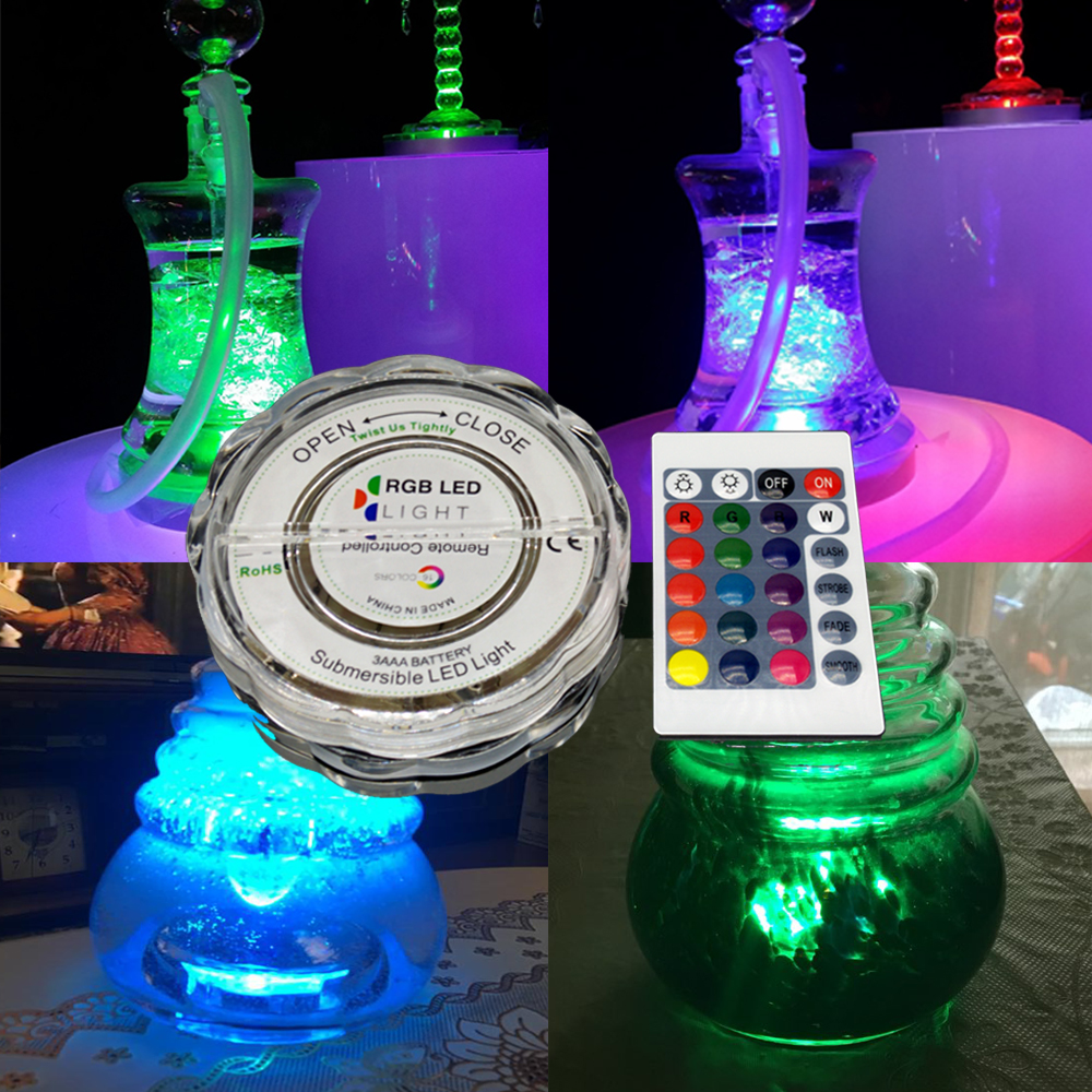 RGB 16 Colors LED Light for Shisha Hookah Narguile Bar Decoration Accessories Festive Party Decoration With remote control