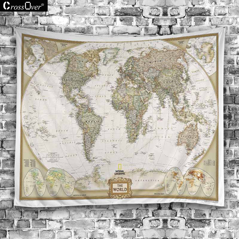 New world map blanket hippie home decorative wall hanging tapestries new world map blanket hippie home decorative wall hanging tapestries boho beach towel yoga mat bedspread table cloth in blankets from home garden on gumiabroncs Gallery