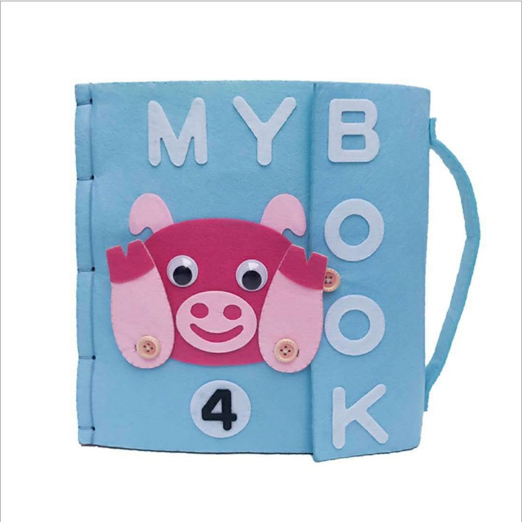 1 Piece Mom DIY Handmade My First Book Quiet Baby Early Educational Book Special Gift For Kid Felt DIY Books Felt DIY Package