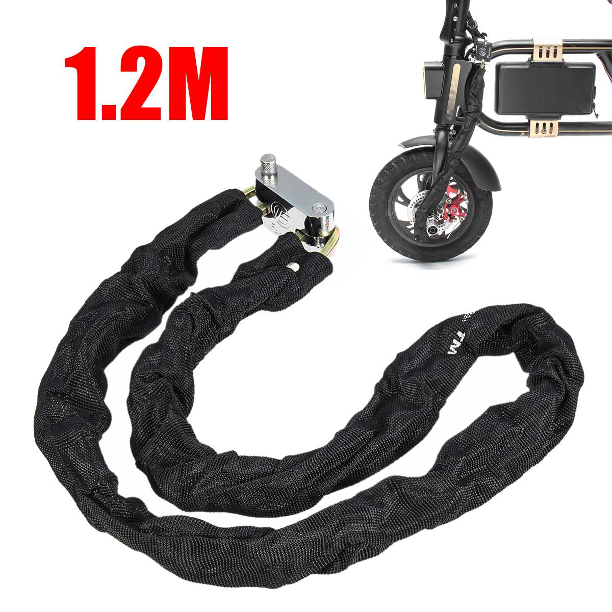 1.2M Metal Motorcycle Motorbike Heavy Duty Chain Lock Padlock Bicycle Scooter Locks Anti-theft Protection