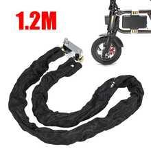 Cadeado de metal para motocicleta, cadeado resistente de proteção antirroubo para moto e scooter, 1.2m