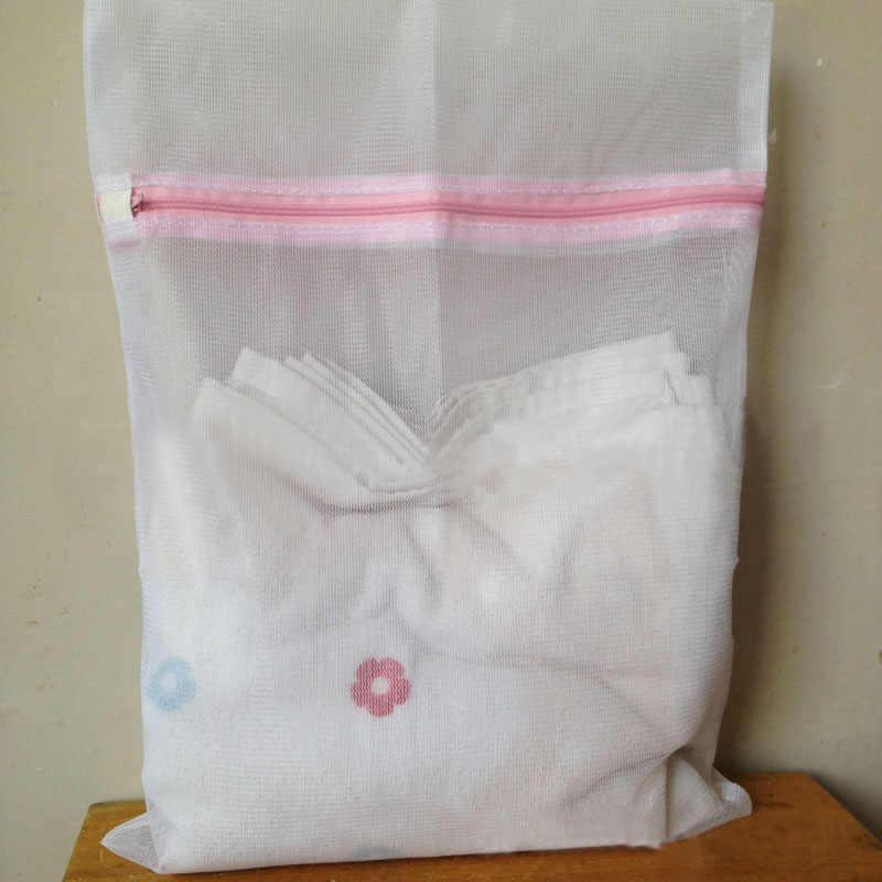 2 tamanhos Meias Sutiã Roupas Lavanderia Saco de Malha Máquina De Lavar Roupa Ajuda Lingerie Com Zíper Dobrável saco de nylon net Limpeza Y