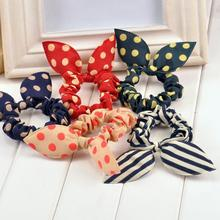 Cute Bunny Flower Headband Ear Point Elastic Hairline Summer Explosion Model Massage