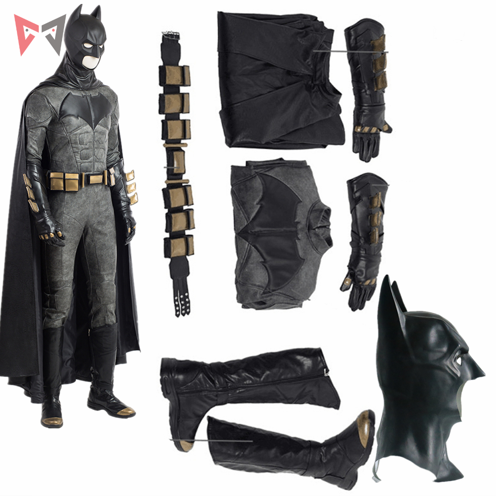 New Justice League cosplay Batman Cosplay Costume custom made for Halloween Dress accessories High Quality