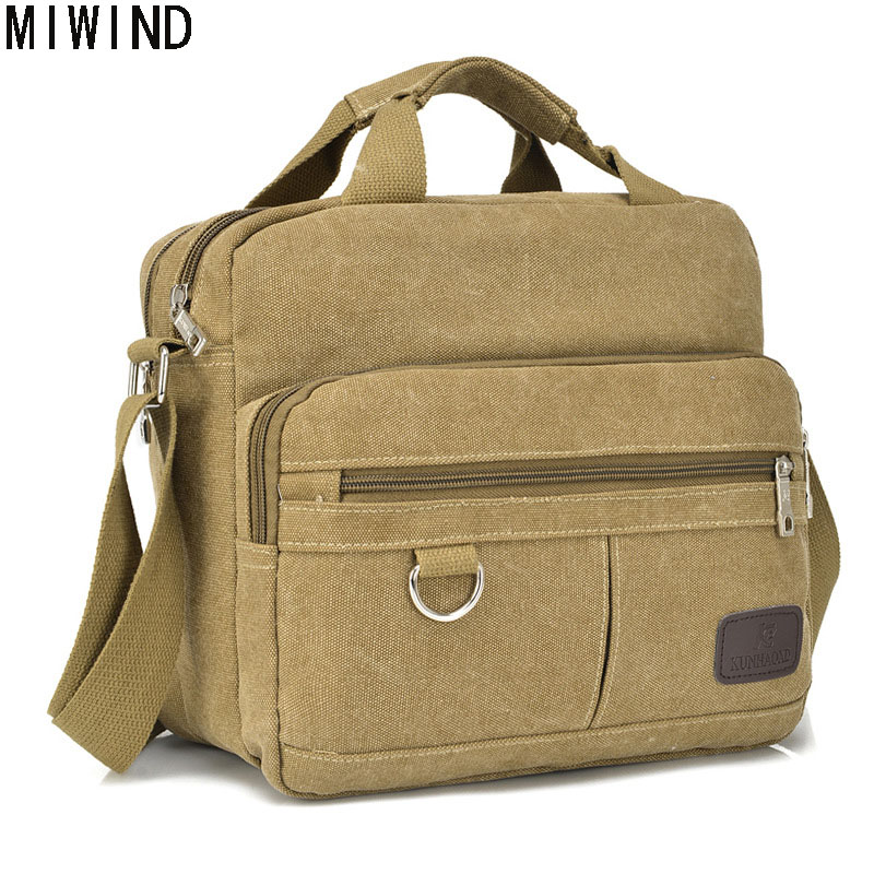 Free Shipping High Quality Large Capacity Men Bag Canvas Handbag Men Zipper Crossbody Bag Luxury Men Messenger Bag T1563 free shipping high quality ink cartridge compatible for hp835 836 ip1188 large capacity