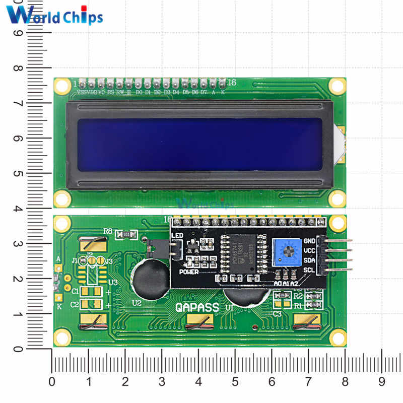 IIC/I2C 1602 Module d'affichage LCD LCD-1602 affichage bleu I2C 5V IIC/I2C/TWI/SPI Interface série 1602 pour Arduino