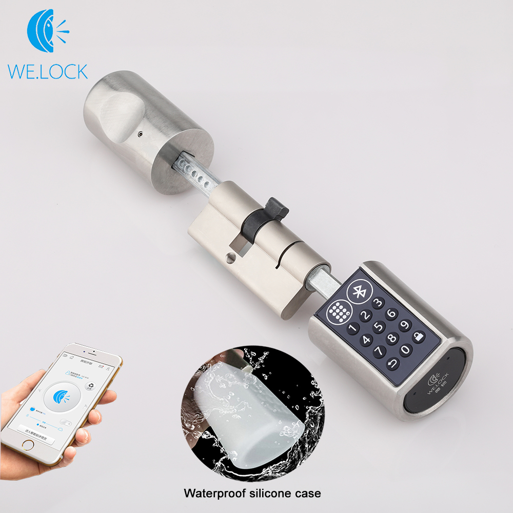 We.lock L6PB Adjustable Smart Electronic lock unlock by Password Bluetooth Hardware Lock Keyless EURO Lock Cylinder