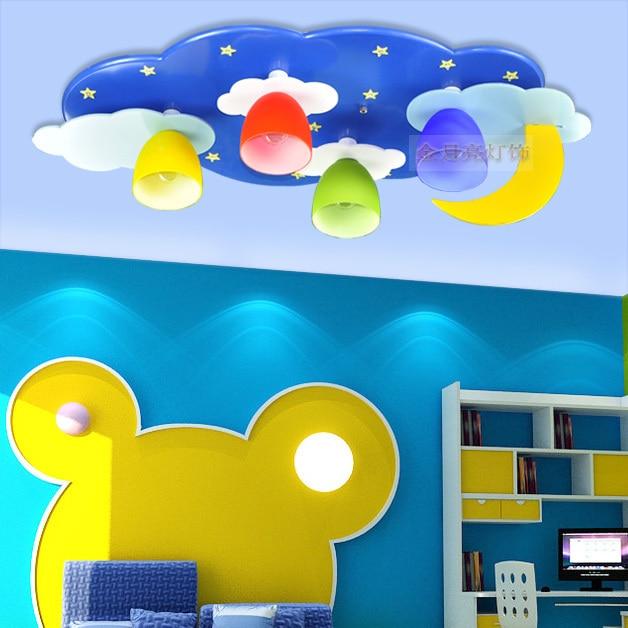 Cartoon Childrenu0027s Room Lamp Led Ceiling Lights Kids Boys And Girls Bedroom  Room Light Pink Blue