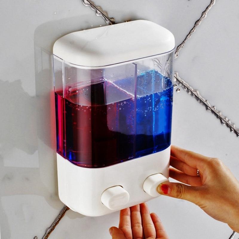Soap Dispenser Shampoo Shower Gel Bottle 1000ml Bathroom Wall Mounted Manual