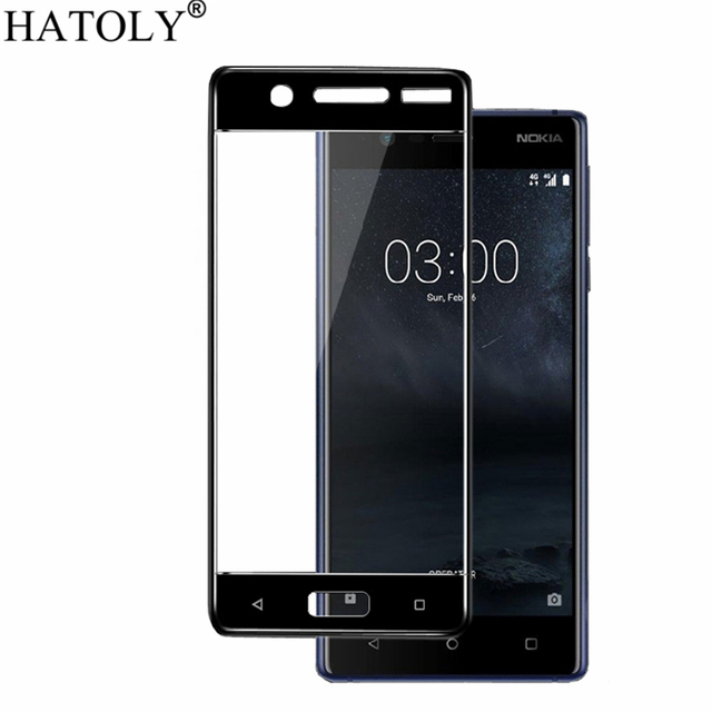 2PCS Tempered Glass For Nokia 5 Screen Protector for Nokia 5 Full Cover for Nokia 5 TA-1008 TA-1030 3D Curved Edge Film HATOLY
