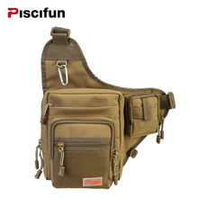 Piscifun Waterproof Canvas Fishing Bag Waist Pack Multi-Purpose Outdoor Bag Reel Lure Bags Pesca Fishing Tackle Bag 7 Colors