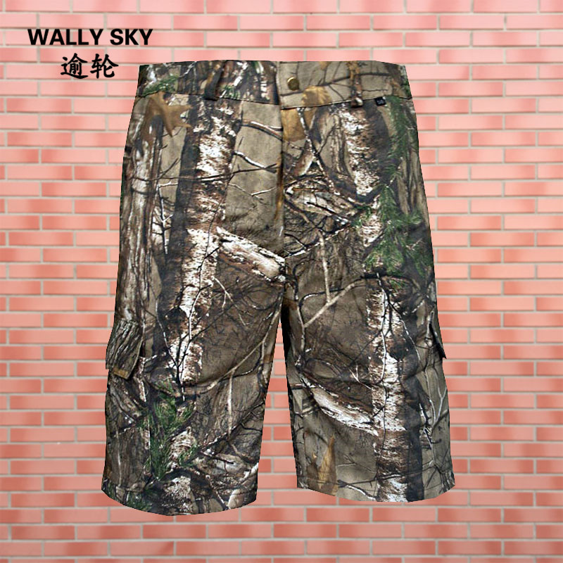 Mens Summer Hunting Shorts Multi-pocket Male Cargo Camouflage Short Pants Outdoor Hunting Tactical Breeches Man Bermudas Shorts