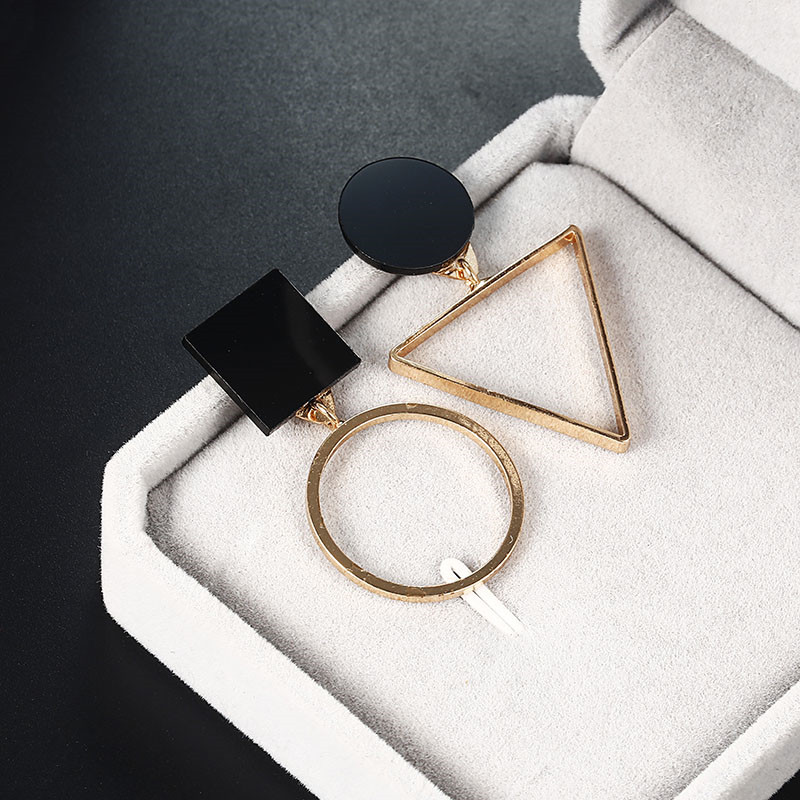 Simple Style Fashion Silver Gold Color Earrings for Women Square Round Geometric Hanging Earrings 18 Female Pendientes Jewelry 11