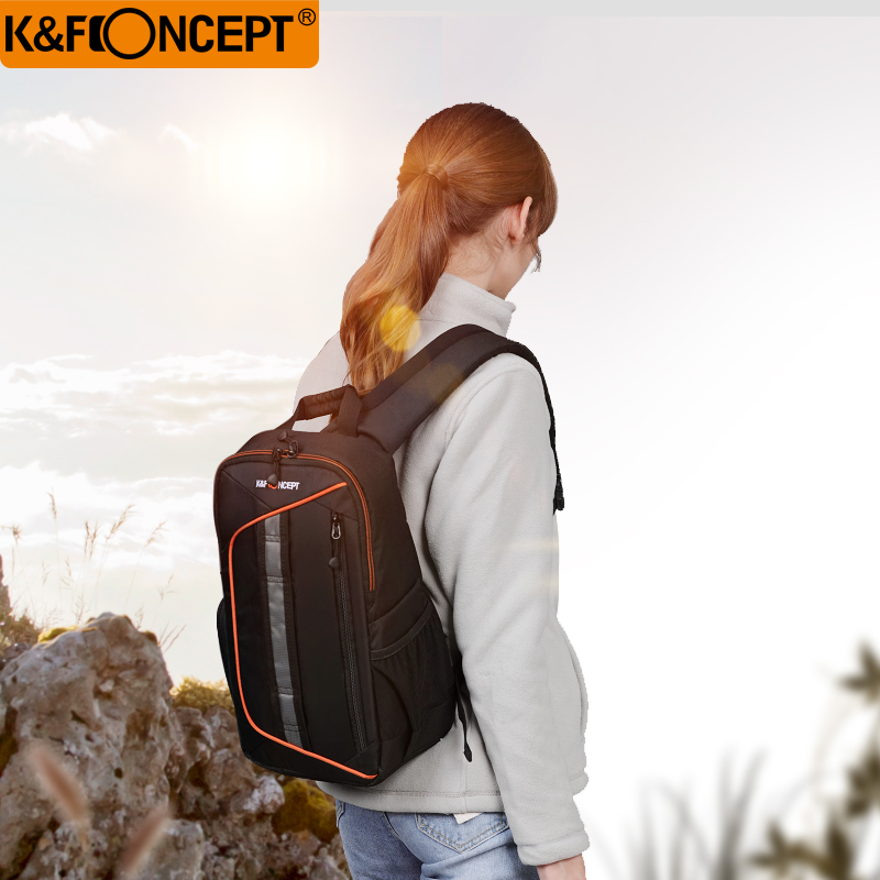 K& F CONCEPT impermeable mochila de cámara nuevo estilo Sling mensajero bolsa de viaje gran capacidad soporte DSLR trípode iPad con cubierta de lluvia