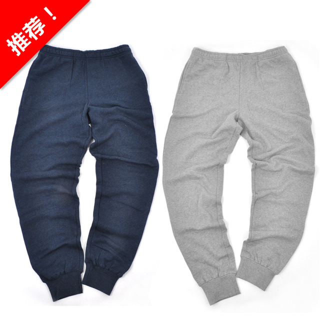 Popular design men fleece thickening casual pants boys full length with pocket drawstring straight trousers free shipping