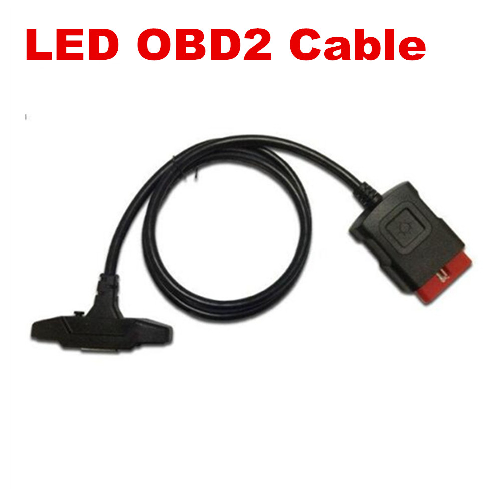 OBD OBDII Cable Best Quality LED OBD2 Cable Suitable New Vci LED Cable Free Ship