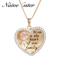 The Best Gift For Mom 925 Sterling Silver Heart Necklaces Family Pendant Necklaces Silver Chain Necklace