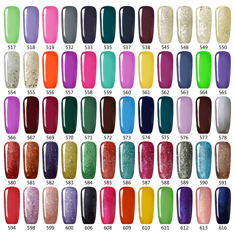 12 PCS IDO legjobb minőségű UV gél lengyel színek alapozó - Köröm művészet - Fénykép 2
