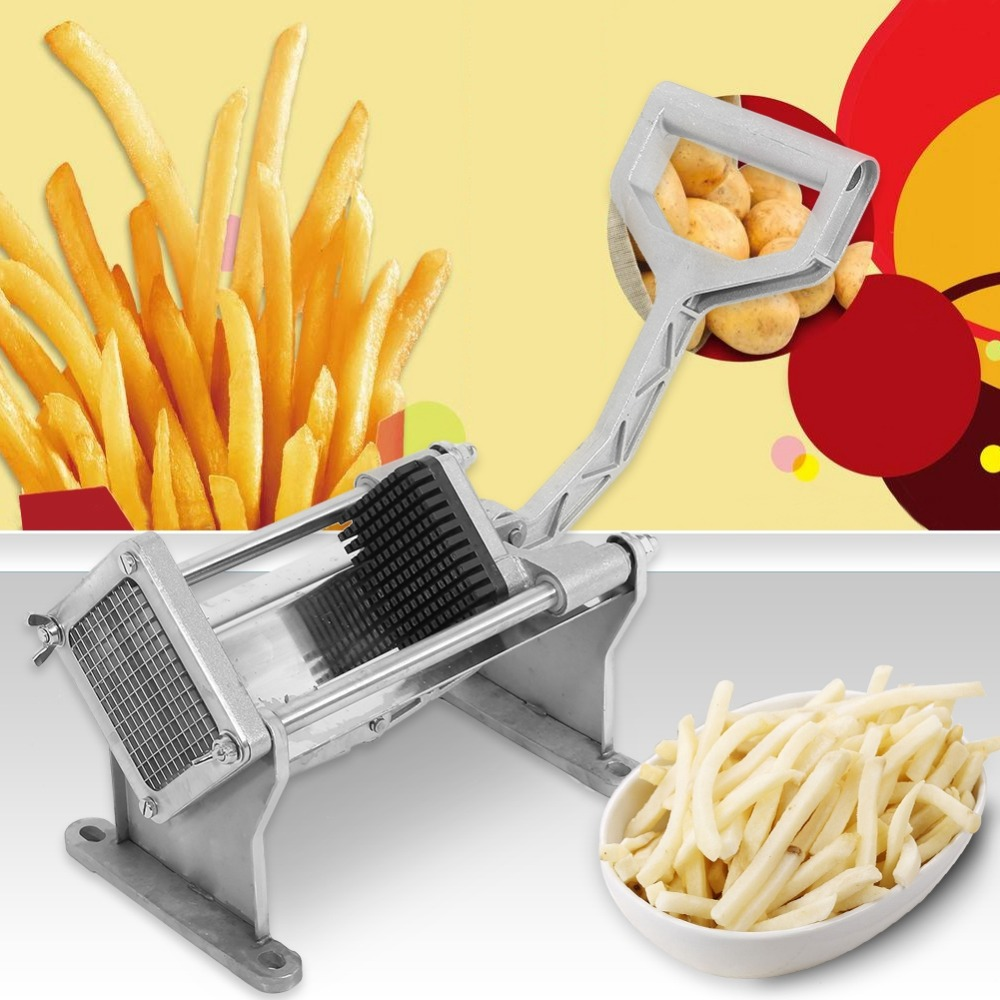 Potato Cutter Fruit Vegetable French Fry Chopper Tool with 4 Blades Manual Cutter Tool Cutting Machine Fruit Vegetable Tool
