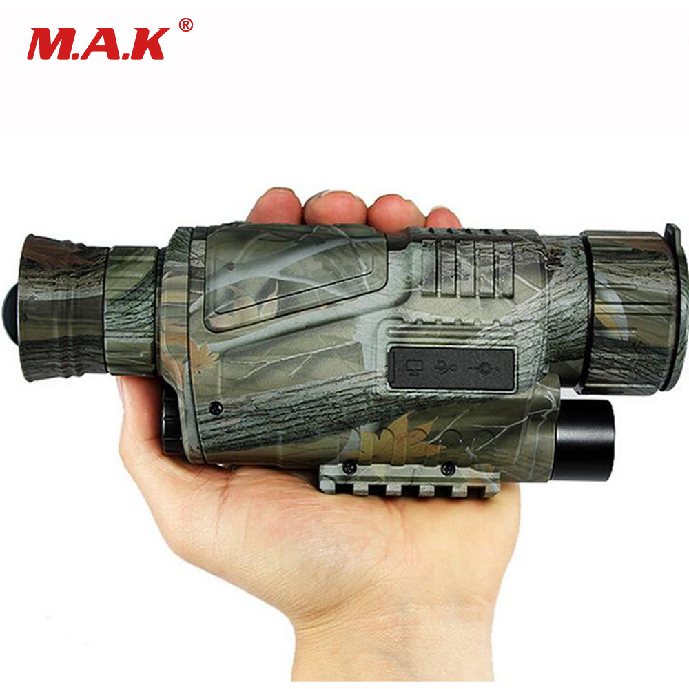Camouflage Zoom 5X40 CCD IR Digitale Monocular Night Vision Infrared Telescope 2m-200m Viewing Range Camera Video Function цена