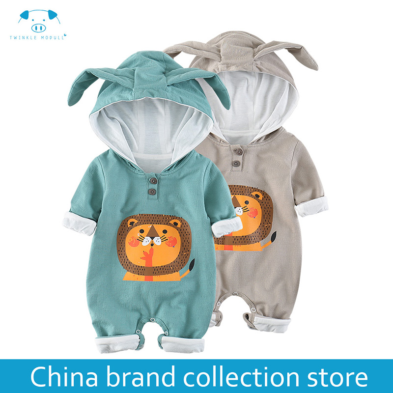 Baby Rompers Autumn Long Sleeve Newborn Baby Boy Girl Lion Costume Romper Playsuit Baby Clothes Hooded Cute Clothing MD180C008 mother nest 3sets lot wholesale autumn toddle girl long sleeve baby clothing one piece boys baby pajamas infant clothes rompers