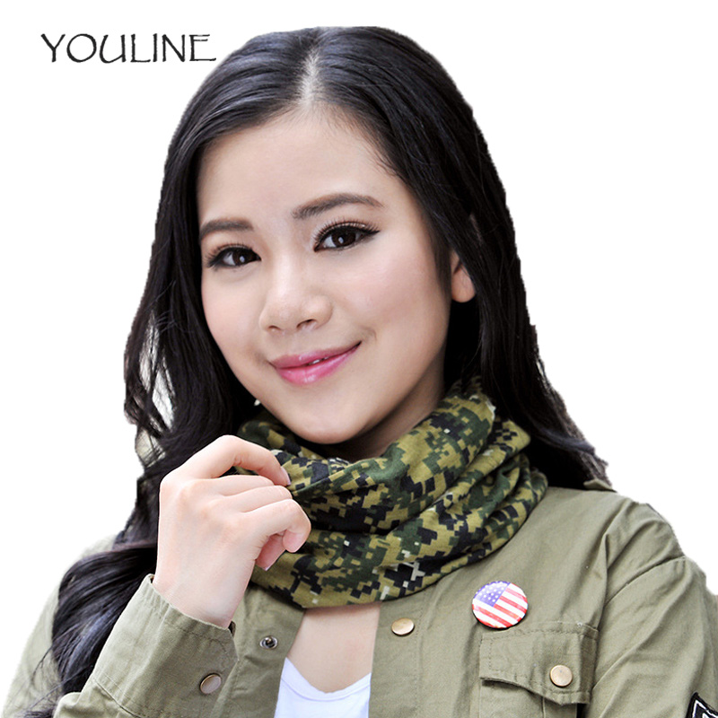 YOULINE 2018 3in1 New Fashion Camouflage Ring Unisex men women Scarf Cotton Snood Neck Warmer Face Mask Beanie Hats 1PC S17496