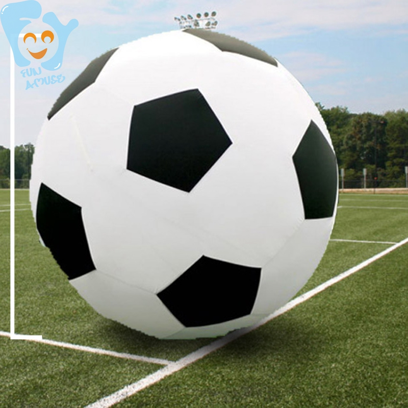Dia 1.8/2m Football Giant Inflatable Soccer Ball Inflatable Water Toys Swimming Pool Fun Outdoor Game Toy