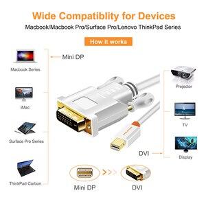 Image 5 - Cabo conversor dp para dvi cabletime thunderbolt, mini exibição, adaptador para macbook pro aimini tv, laptop e projetor n014