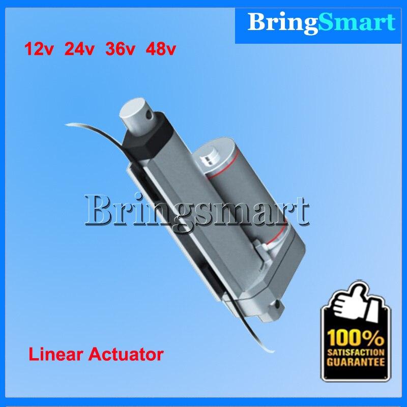 цена на Stroke 2 Inch(50mm) Mini Linear Actuator 12V-48v,50-900N,5-40mm/s Tubular Motor,Stroke-Adjustable For Window Actuator,Auto parts