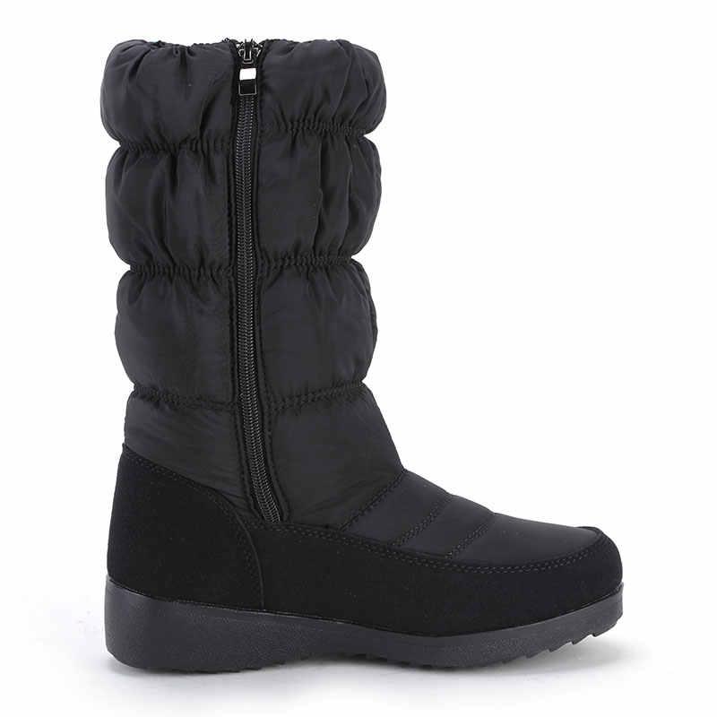 GOGC kar botları kadınlar için Rhinestone yüksek kalite kış botları kadın su geçirmez kaymaz alt kışlık botlar bayan botları 9854