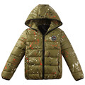 Keep Warm Jacket for boys camouflage Hooded Winter Clothes Winter White Duck Down Coat Outerwear Jacket Green and Black dj051