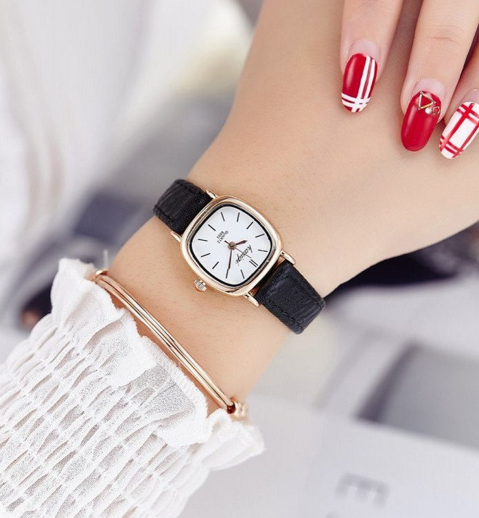 Hot sale top women quartz-watch leather ladies Analog small dail watch women montre femme wrist watches 2016 hot sale hot women leather watch whatever i am late anyway letter watches good looking ma 3