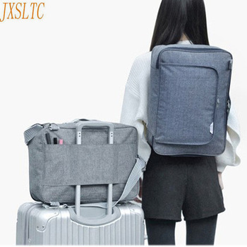 acb7289723f23 JXSLTC hombres bolsas de viaje bolsos de gran capacidad maletas y bolsas de  viaje en la carretera mochila de moda de viaje Original ordenador portátil  ...