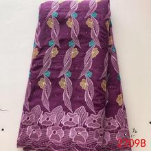 Новинка, африканская сухая хлопковая кружевная ткань, швейцарская вуаль, кружево в швейцарском стиле, высокое качество, нигерийская французская вышивка с камнями ks2709B