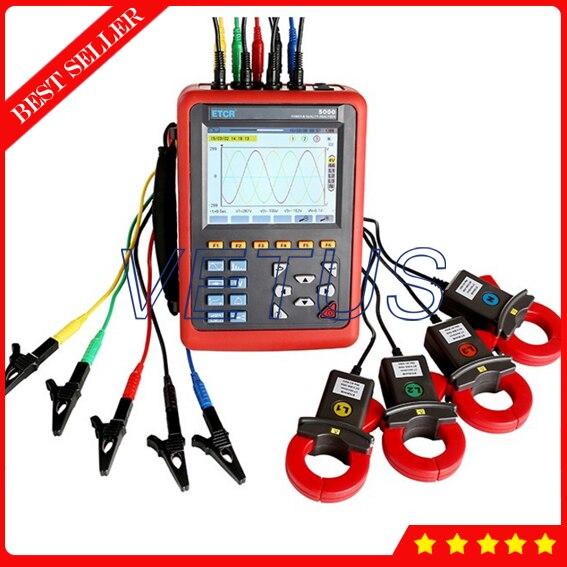 ETCR5000 testeur d'analyseur de puissance numérique à 3 phases avec le moniteur de puissance d'analyseur de qualité de puissance